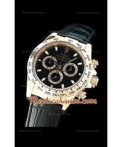 Rolex Daytona Resproducción Reloj Cosmógrafo Suizo  con Esfera de color Negro