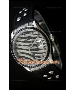 Rolex Datejust Reproducción Reloj Suizo para Hombres con Esfera Leopardo