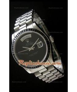 Rolex DayDate Reproducción Reloj Suizo  con Esfera de color Negro