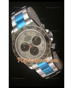 Rolex Daytona Reproducción Reloj Suizo con Esfera de Acero