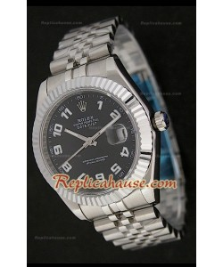 Rolex Datejust Reproducción Reloj Suizo para Hombres  con Esfera de color Negro