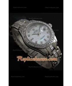 Rolex Daydate Reproducción Reloj Suizo con Esfera Madre Perla