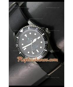 Rolex Submarener Pro Hunter Reloj Suizo con Bisel de Carbón