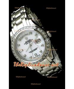 Rolex Daydate Reproducción Reloj Suizo - Reloj mediano- 37MM en Acero