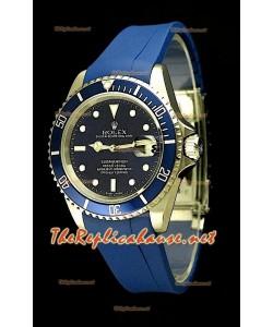 Rolex Submarener 11610 Reloj Suizo con Correa de Caucho Azul
