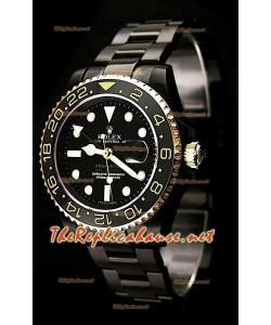 Rolex GMT Masters II Pro Hunter Reloj Suizo en dos Tonos de Oro y PVD