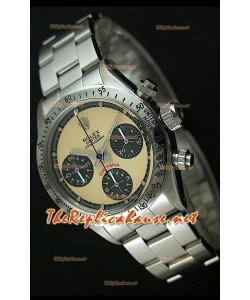 Reloj Rolex Cosmograph Daytona 6265 Vintage Esfera crema bisel de acero