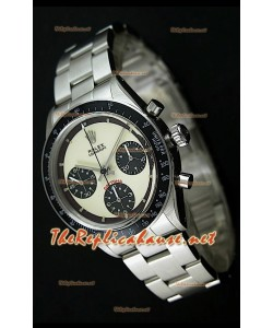 Reloj Rolex Cosmograph Daytona 6265 Vintage Esfera blanca Bisel negro