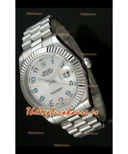 Rolex Réplica Datejust Mens Reloj Suizo Esfera con Números Arabes – 41MM