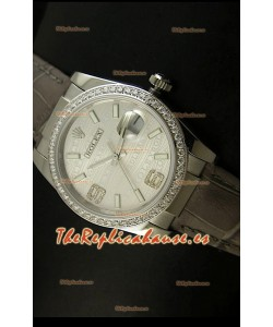 Rolex Réplica Datejust Reloj Suizo – 37MM - Carcasa Gris/Malla
