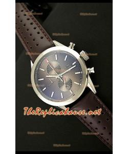 Tag Heuer SLR 300 Reloj Cronógrafo en Correa de Piel - Esfera Marrón