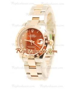 Datejust Rolex Reloj Japonés en dos tonos Oro Rosa- 36MM