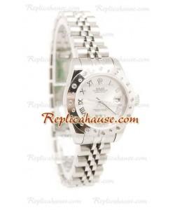 Reloj Rolex Réplica Datejust Silver para Dama