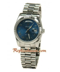 Rolex Réplica Day Date-Silver Reloj