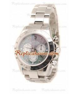 Rolex Daytona Suizo Stainless Steel Reloj en el Dial Color Perla - 40MM