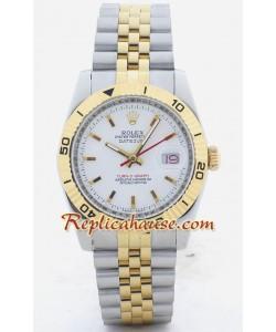 Rolex Réplica Datejust - Turn O Graph - Dos Tonos