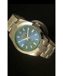 Rolex Milgauss 116400GV Reloj Suizo Dial Blanco