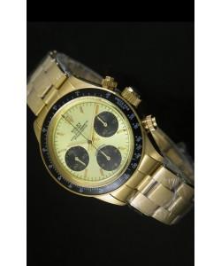 Rolex Daytona 6265 Cosmograph Caja en Oro, Dial Metálico Dorado