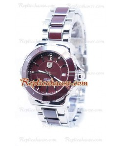 Tag Heuer Formula 1 Quartz Brown Ceramic Bisel de diamantes Reloj