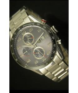 Tag Heuer Carrera Calibre 1887 Reloj Dial Gris - Réplica Escala 1:1