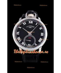 Chopard Louis-Ulysse The Tribute Reloj Suizo Dial Negro de Acero Inoxidable