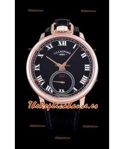 Chopard Louis-Ulysse The Tribute Reloj Suizo de Oro Rosado con Dial Negro