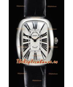 Franck Muller Galet Ladies Reloj Cuarzo Suizo con Correa Negra