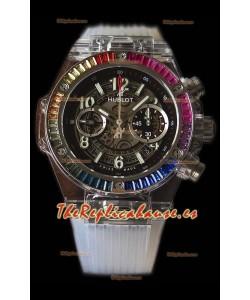 Hublot Big Bang UNICO Sapphire Rainbow Reloj Réplica Suizo