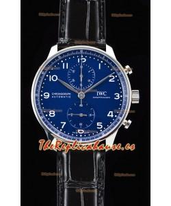 IWC Portuguese Chronograph Reloj Suizo a Espejo 1:1 Dial Azul