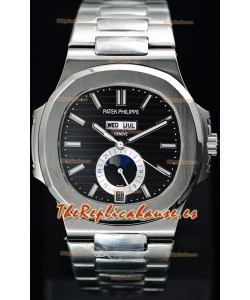 Patek Philippe Nautilus 5726A Reloj Suizo a Espejo 1:1 Dial Negro