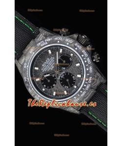 Rolex Daytona DiW Forged Reloj Réplica a espejo 1:1 Caja de Carbono con Correa de Nylon