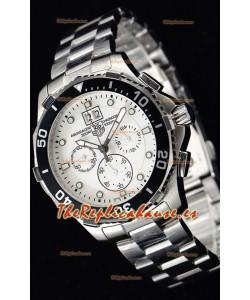 Tag Heuer Aquaracer Chronograph Reloj de Cuarzo Suizo Dial Blanco