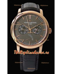 Vacheron Constantin Traditionnelle Day Date Reloj Réplica Suizo Oro Rosado