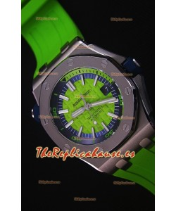 Audemars Piguet Royal Oak New Diver Reloj Replica Suizo a escala 1:1 Color Verde