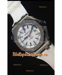 Audemars Piguet Royal Oak New Diver 1:1 Reloj Replica Suizo a escala 1:1 Color Blanco