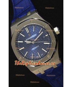 Audemars Piguet Royal Oak 41MM Dial Azul Correa de Piel - Reloj Réplica a espejo 1:1, Edición Última