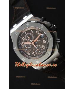 Audemars Piguet Royal Oak Offshore Cronógrafo Dial Marron Reloj Réplica a Espejo 1:1