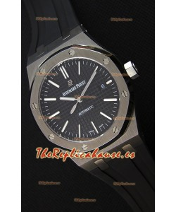 Audemars Piguet Royal Oak 41MM Dial Negro Correa de Goma - Reloj Réplica a Espejo 1:1 Última Edición
