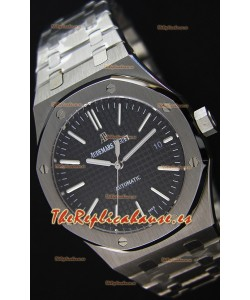 Audemars Piguet Royal Oak 41MM Dial Negro Correa de Acero - Reloj Réplica a Espejo 1:1 Última Edición