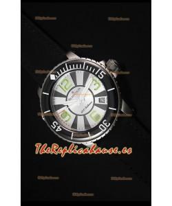 Blancpain 500 Fathoms Reloj Replica Suizo con Dial en Blanco - Edición Escala Espajo 1:1