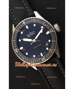 Blancpain Fifty Fathoms BATHYSCAPHE Reloj Suizo Réplica a Espejo 1:1 Edicion Suiza de Titanio
