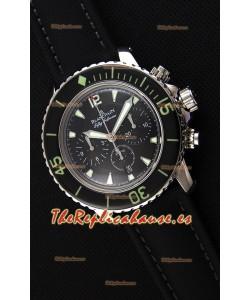 Blancpain Blancpain Fifty Fathoms Chronograph Flyback Negro Reloj Réplica a Espejo 1:1