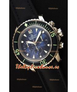 Blancpain Blancpain Fifty Fathoms Chronograph Flyback Azul Reloj Réplica a Espejo 1:1