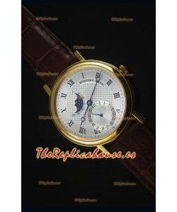Breguet Classique Moonphase Reloj Replica Suizo de Oro Amarillo