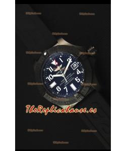Breitling Avenger Blacksteel Reloj Replica Suizo revestimiento DLC, Dial Negro