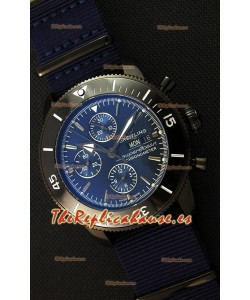 Breitling Superocean Heritage II Outerknown Blacksteel NATO Strap Reloj Réplica a Espejo 1:1