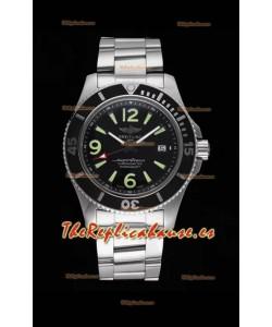 Breitling Superocean Automatic 44 Steel - Reloj Réplica a Espejo 1:1 Dial Negro