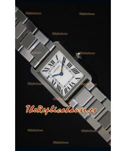 Cartier Tank Solo Reloj Cuarzo Suizo Correa de Acero 28MM Ancho