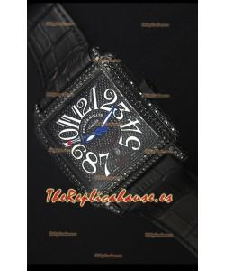 Franck Muller Conquistador King Automatic Reloj Replica Suizo, Caja color Negro con Revestimiento en PVD