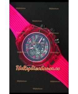 Hublot Big Bang Unico Red Sapphire Reloj Replica de Cuarzo 45MM